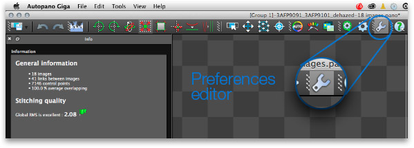 Button preferences editor