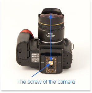 Alignment of the screw of camera and the lens
