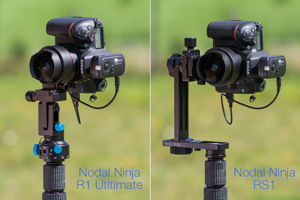 Têtes panoramiques Nodal Ninja R1 Ultimate et RS1