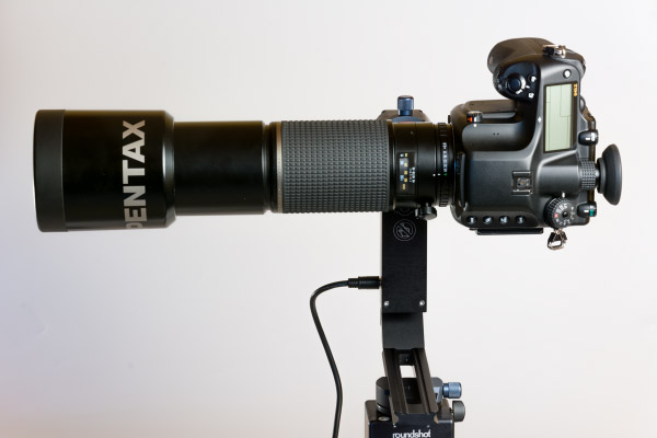 Telphoto lens on VR Drive Roundshot head